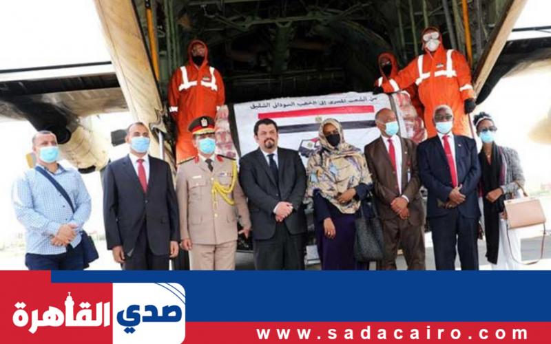 مصر ترسل مساعدات إلى السودان عبر مطار الخرطوم الدولي