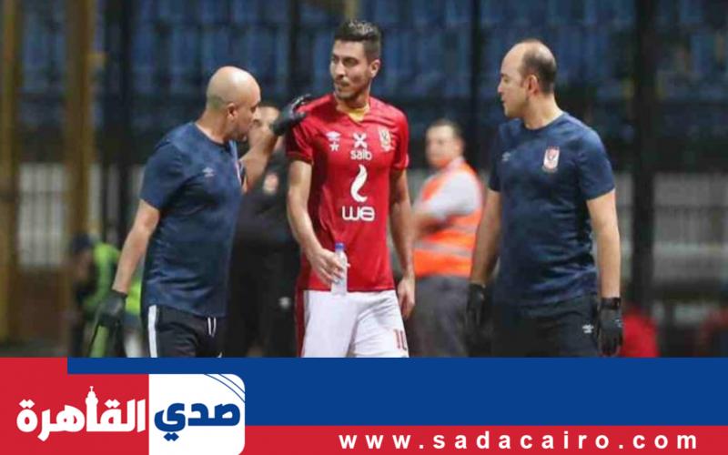 مصدر بالنادي الأهلي يكشف فرص مشاركة محمد شريف في مباراة المصري